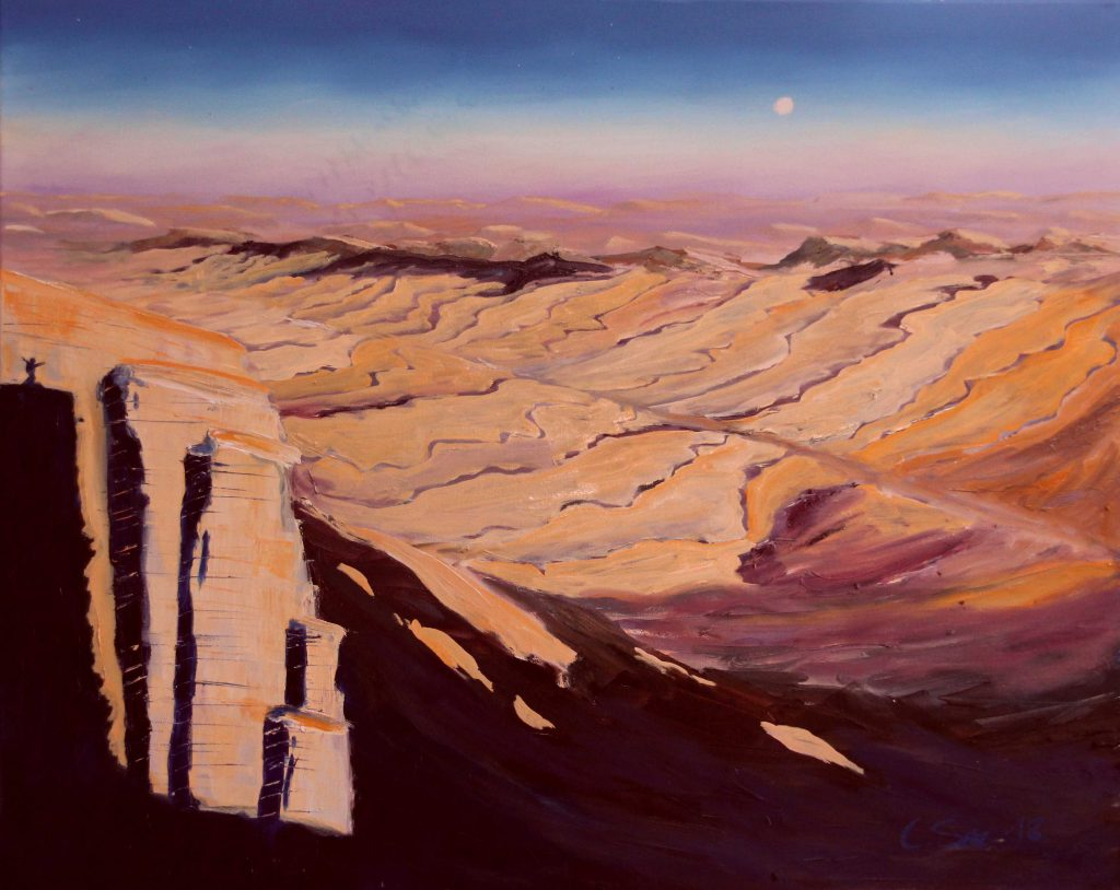 beautifil-negev oil painting